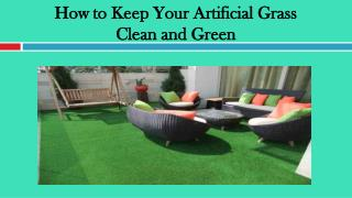 How to Keep Your Artificial Grass Clean and Green