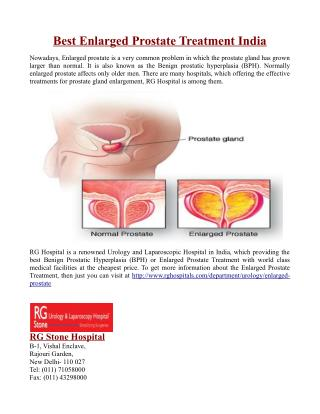 Best Enlarged Prostate Treatment India