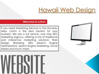 Hawaii Web Development