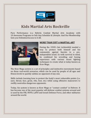 Kids Martial Arts Rockville