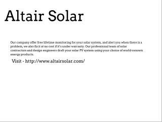 Altair Solar