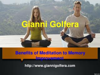 Benefits of Meditation to Memory Improvement