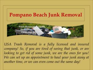 Pompano Beach Junk Removal