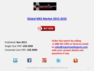 lobal MES Market 2015-2019