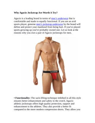 Why Agacio Jockstrap Are Worth A Try?