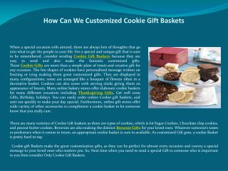 How Can We Customized Cookie Gift Baskets