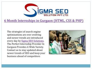 Php live project internship gurgaon with sigma seo solutions