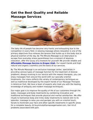 Massage Services Lehi