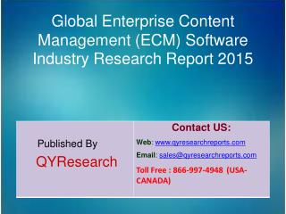 Global Enterprise Content Management (ECM) Software Market 2015 Industry Growth, Outlook, Development and Analysis
