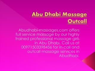 Body to body massage abu dhabi