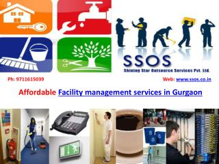Facility management services in Gurgaon- SSOS