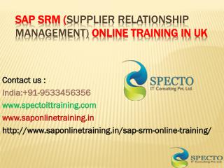 Sap srm (Supplier Relationship Management) online training in australia