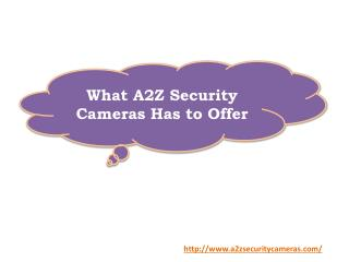 What A2Z Security Cameras Has to Offer