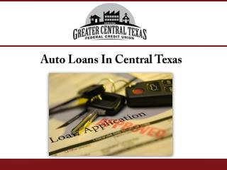 Auto Loans In Central Texas
