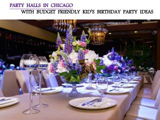 PARTY HALLS IN CHICAGO WITH BUDGET FRIENDLY KID'S BIRTHDAY PARTY IDEA