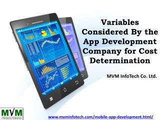 Variables Considered By the App Development Company for Cost Determination