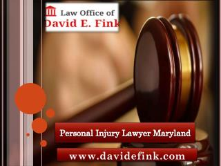 personal injury lawyer Maryland
