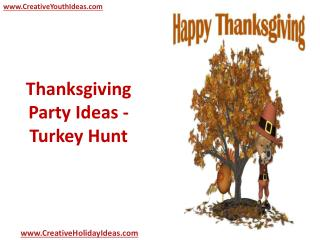 Thanksgiving Party Ideas - Turkey Hunt