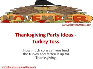 Thanksgiving Party Ideas - Turkey Toss