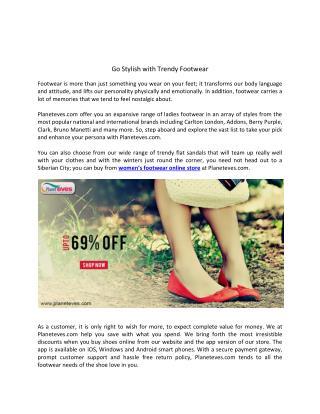 Go Stylish with Trendy Footwear