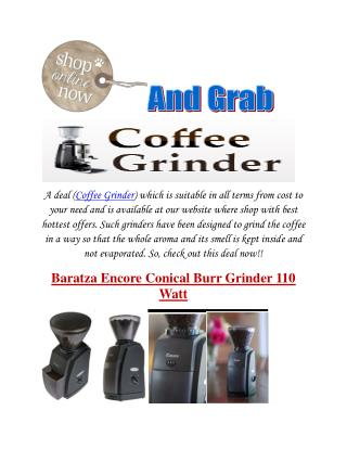 Cheap Coffee Grinder: Many More Types To Shop Here