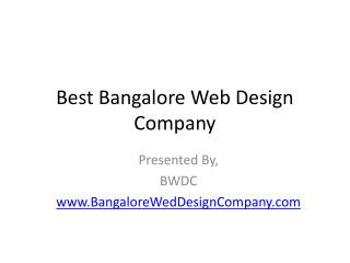 Best Bangalore Web Design Company