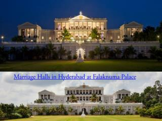Marriage Halls in Hyderabad at Falaknuma Palace