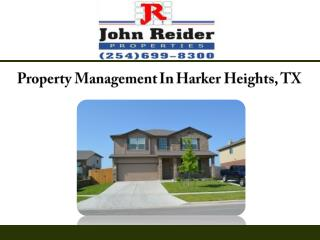 Property Management In Harker Heights, TX