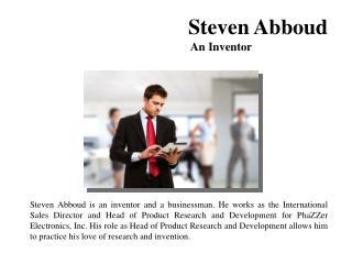 Steven Abboud-An Inventor