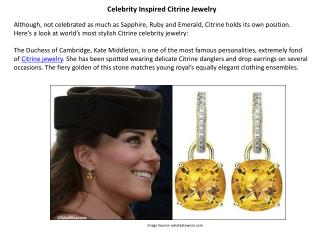 Celebrity Inspired Citrine Jewelry