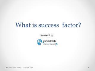Success factors learning