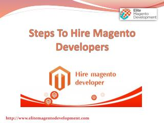 Steps to Hire Magento Developers