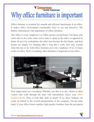 Why office furniture is important