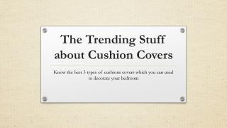 Latest Trends of Cushion Covers - Handmade Cushion Covers