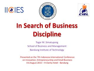 In Search of Business Discipline