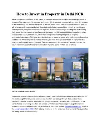 Ajnara Group Review - How to Invest in Property in Delhi NCR