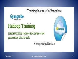 Hadoop training institutes in Bangalore