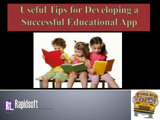 Useful Tips for Developing a Successful Educational App