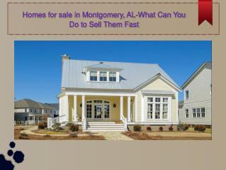 Optimum Homes For sale In Montgomery, AL