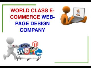 Leading E-Commerce Webpage Design company