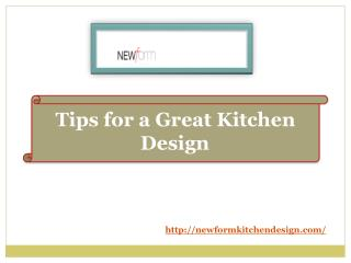 Tips for a Great Kitchen Design