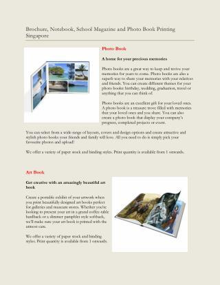 Book Printing Singapore