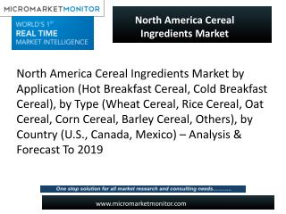 Global Cereal ingredients market looking for great success in upcoming years