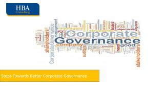 Steps Towards Better Corporate Governance