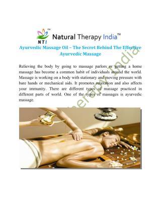 Ayurvedic massage oil manufacturers