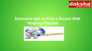 Exclusive tips to Find a Secure Web Hosting Provider