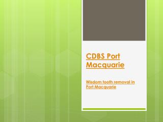 CDBS Port Macquarie
