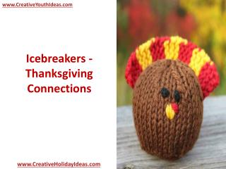 Icebreakers - Thanksgiving Connections