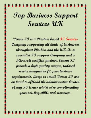 Top Business Support Services Uk