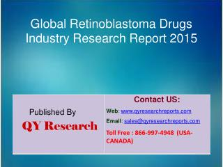 Global Retinoblastoma Drugs Industry 2015 Market Analysis, Forecasts, Study, Research, Outlook, Shares, Insights and Ove